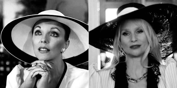 Alexis Carrington Colby - Last, but never least, in the face off between Joan Collins and Nicolette Sheridan... old Alexis -- Joan Collins -- wins!C'mon. New Alexis is campy (and lives in a camper?!), with a few good zingers, but Joan Collins IS Dynasty, darling.