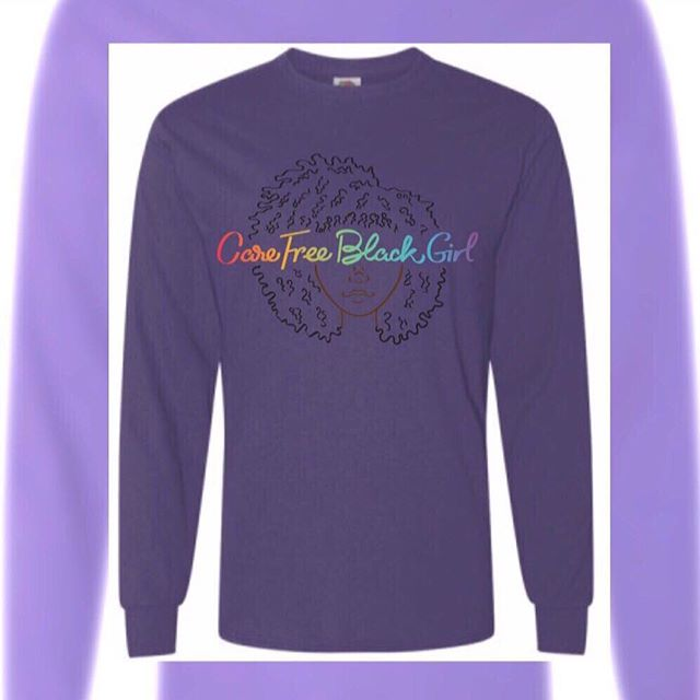 We got long sleeve tees in all sizes . Shop #CareFreeBlackGirl by clicking the link@in our bio  #supportsmallbusiness #supportblackbusiness #carefreeblackgirlpodcast #podsincolor #apparel