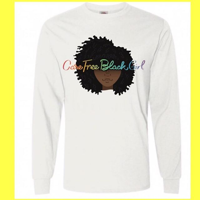 Fall into our new collection . Long sleeve tees , totes and more available in our store 💛 #carefreeblackgirl #supportsmallbusiness #supportblackbusiness #merchandise #womensclothing #carefreeblackgirls #naturalhairstyles #blackgirlmagic #retail