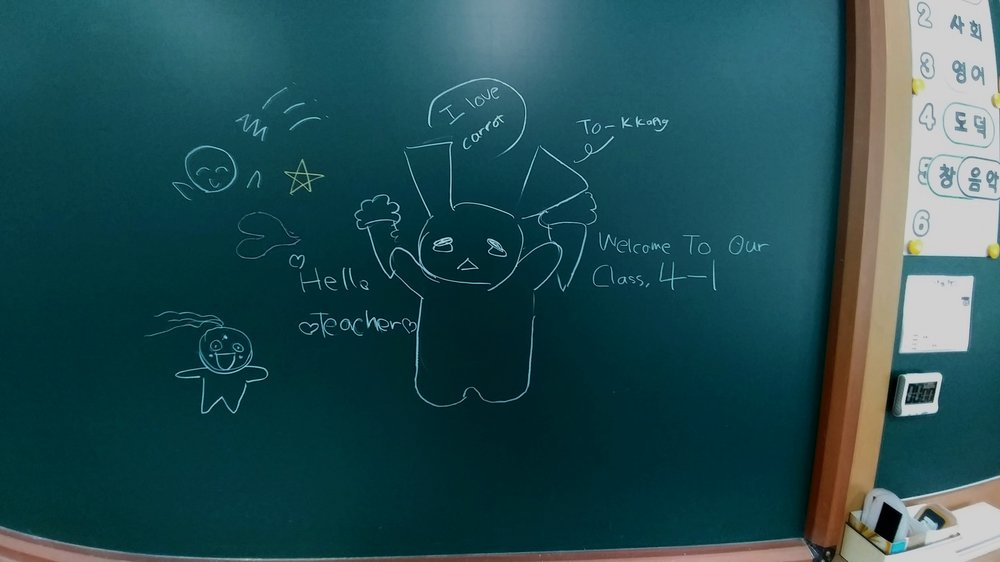 The same class that gave me my Korean name also made me this cute drawing.