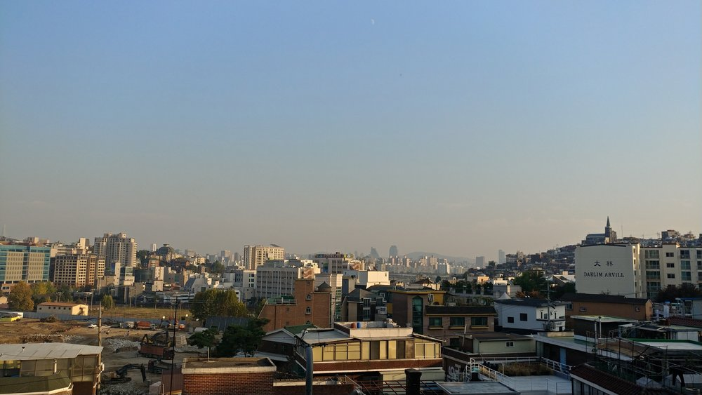 View from Hyundai Card Music Library in Itaewon, Seoul, South Korea. 2017
