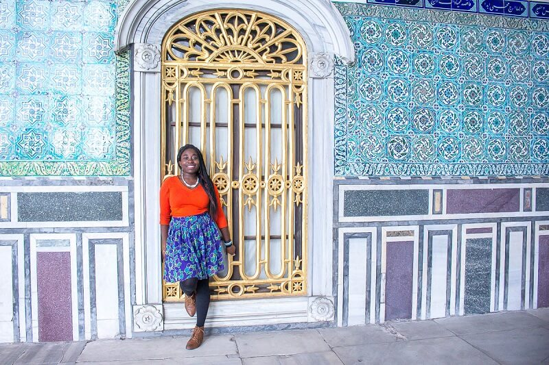 Omolayo in Istanbul at the Topkapi Palace