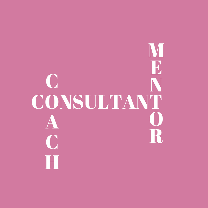 What is the difference between a mentor, coach and consultant