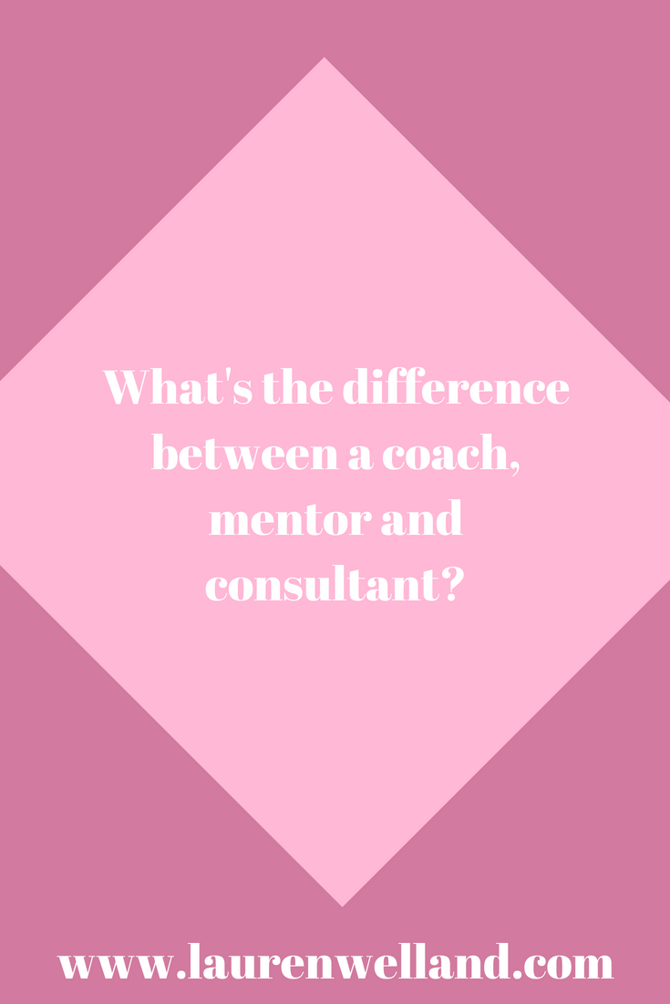 What's the difference between a coach, mentor and consultant?