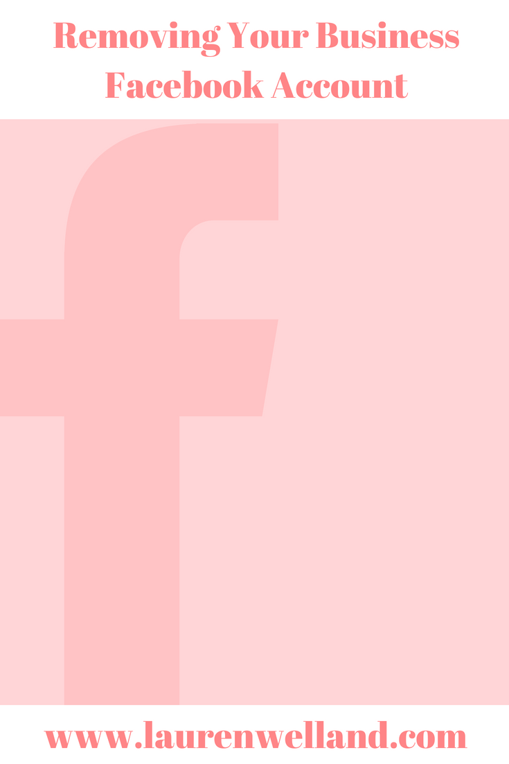 Removing your Business Facebook Account