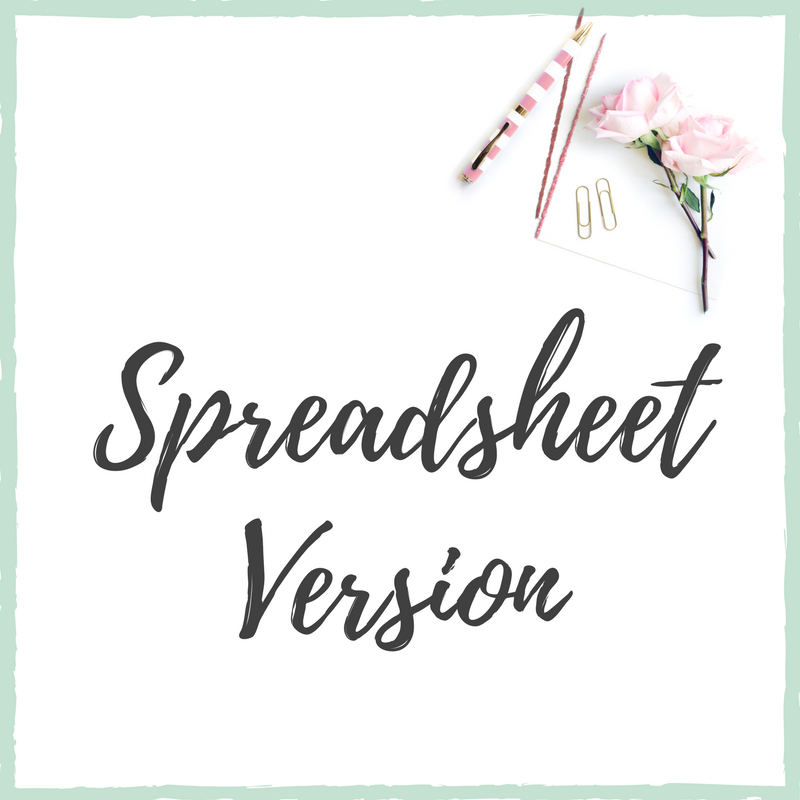 Downloadable Spreadsheet Version