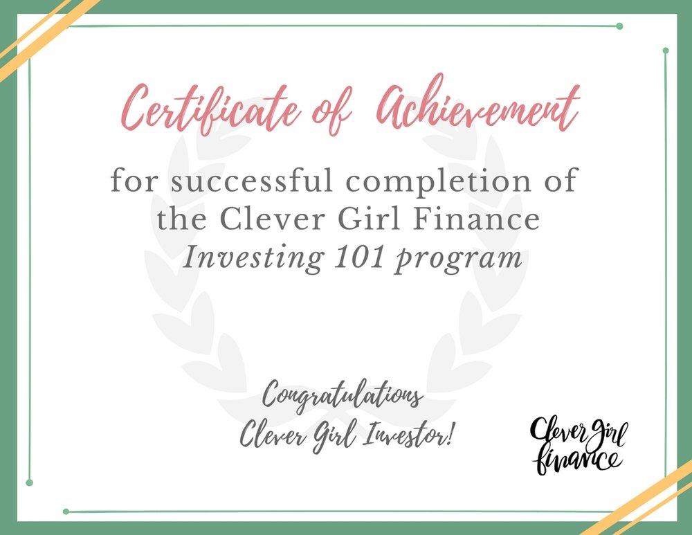 Certificate of achievement - CGF Investing Program.jpg