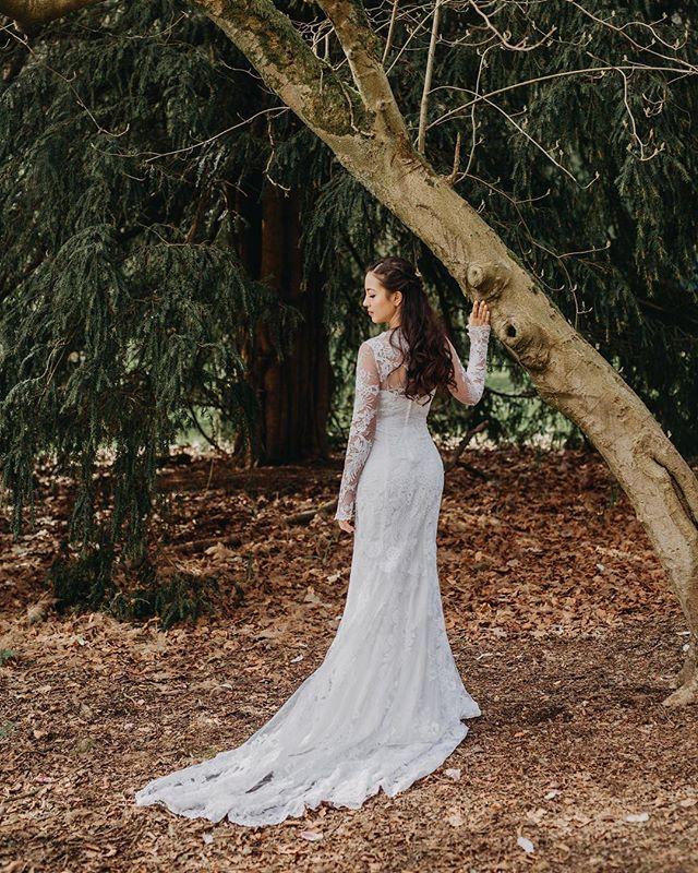 This is Kyoko. . MUA: @elsa_makeup_artist. Wedding Dress Design: @littlepinkdressdesign  Model: @kyokoyates  Assistant: @peterwu1992