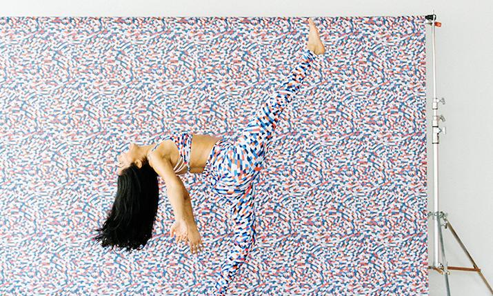 capoeira print product campaign - lululemon