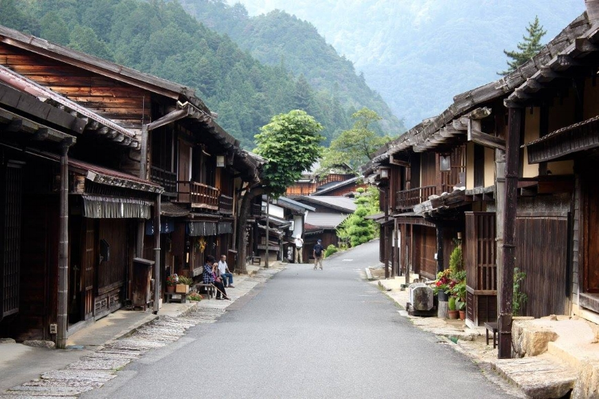 The Edo-period streets of Magome. (Photo: Chloe Berge)