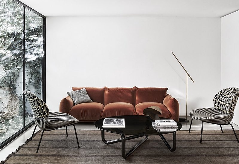 Marenco sofa and Tellin armchair - Arflex Design Stories 2018