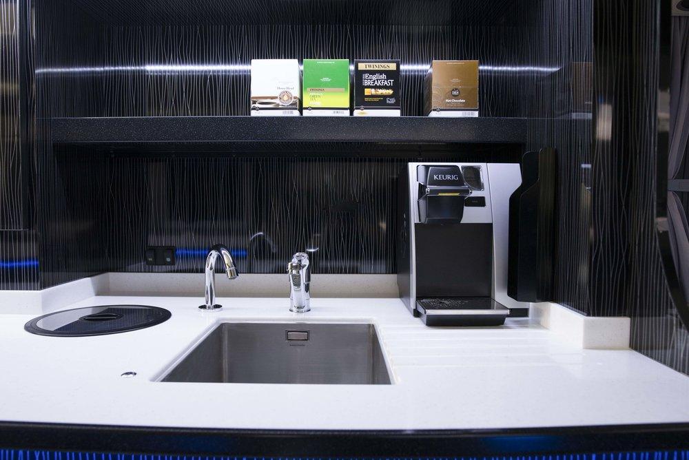 Coffee machine and servery