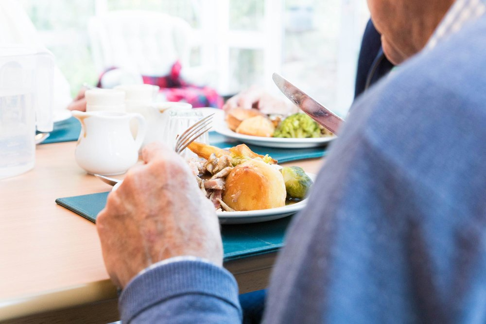 Every meal is freshly cooked and can be eaten in the dining room with the other residents, in the conservatory with visitors or in a resident's room