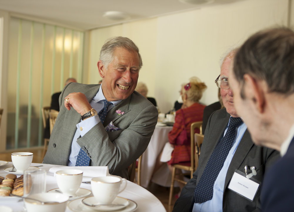 HRH Prince of Wales visiting Trinity Hospital Almshouse, Greenwich.