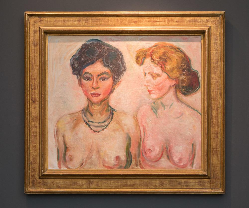 Edvard Munch  Blond Og Mork Aktmodell, 1902/03  Dickinson  Frieze Masters, 2017