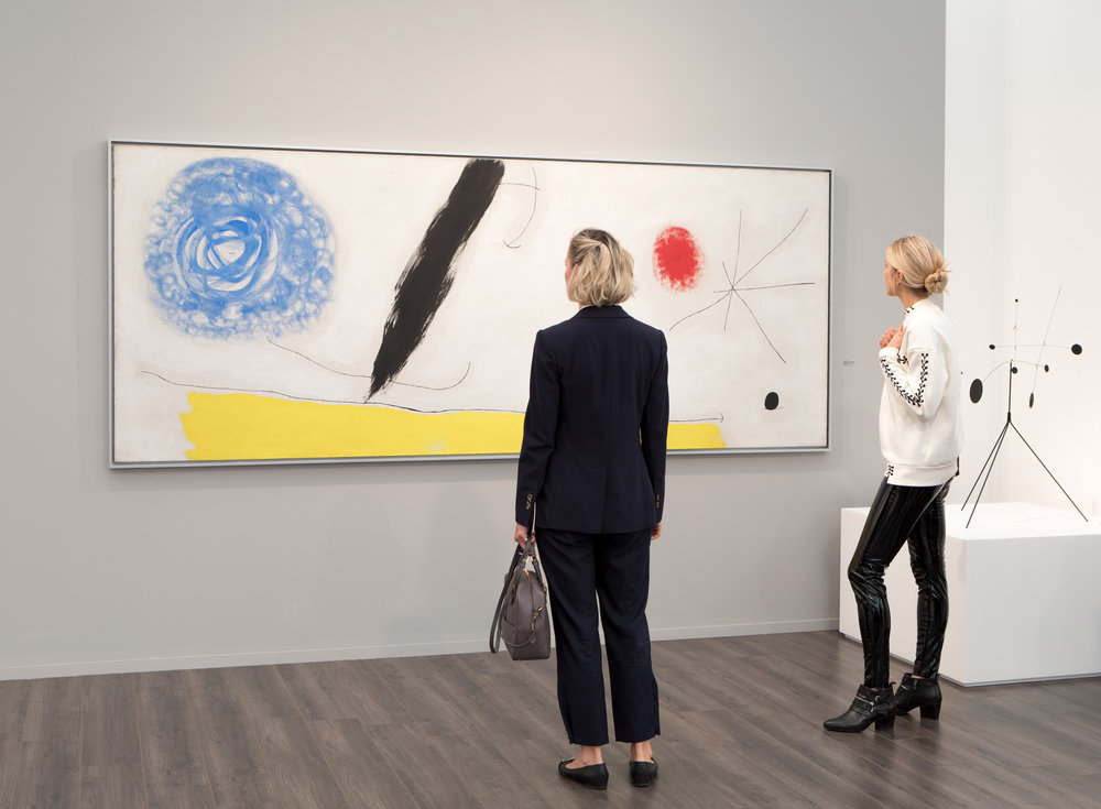 Joan Miro  Bird Woken by the Cry of  the Azure Flying Away Across the Breathing Plain, 1968  Nahmad Contemporary, New York  Frieze Masters, 2017