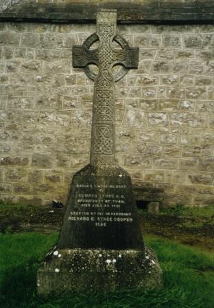 Memorial headstone to Edward Synge, Archbishop of Tuam, Galway, Ireland. Photograph courtesy of Edward Synge.