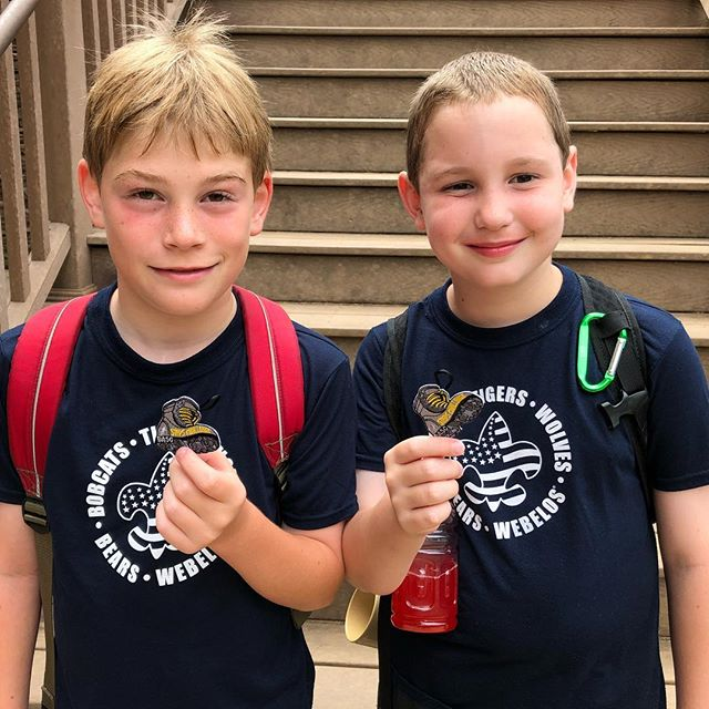 They earned their step challenge. 50,000 steps at @bertadamssc for Cub Scout Summer Camp.