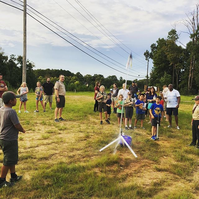 Starting off the year with a blast by launching rockets. #atlscouts
