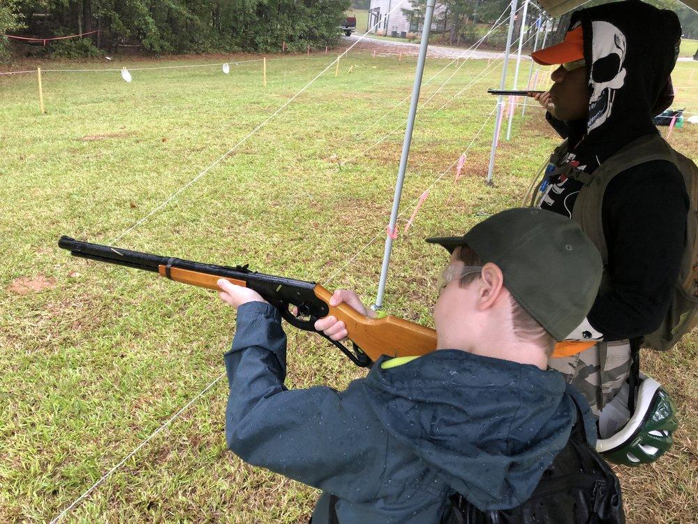 Shooting BB guns