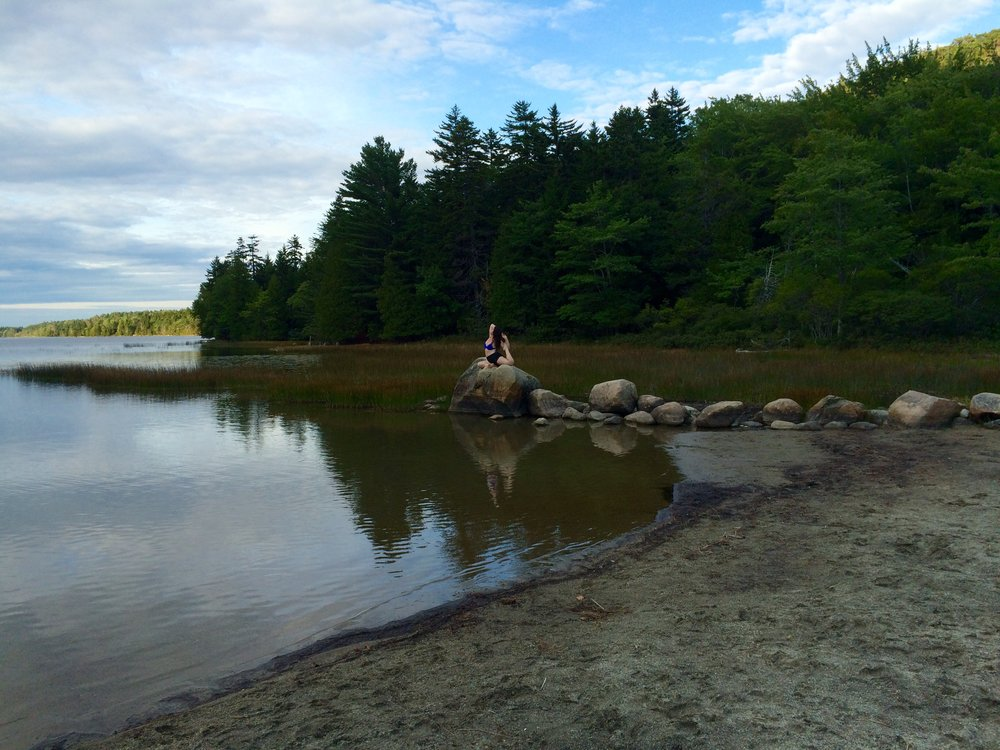 Erin being a Mermaid in Maine