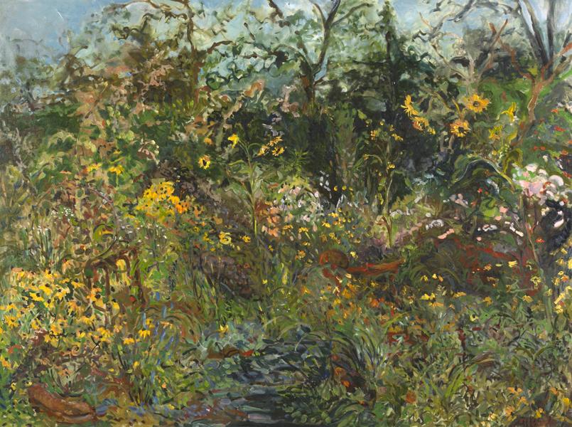 Garden Path  30x36 -oil