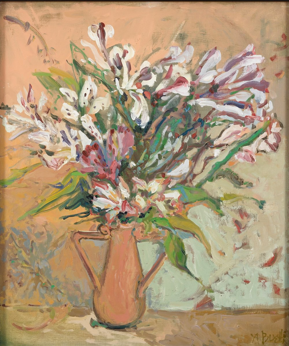 Peruvian Lillies  13X15 - Oil on Board