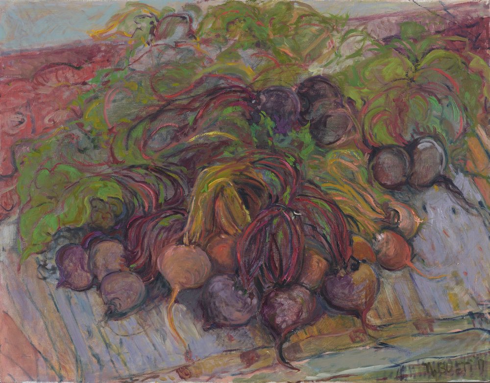 Gold and Red Beets  25X32 - Oil on Linen