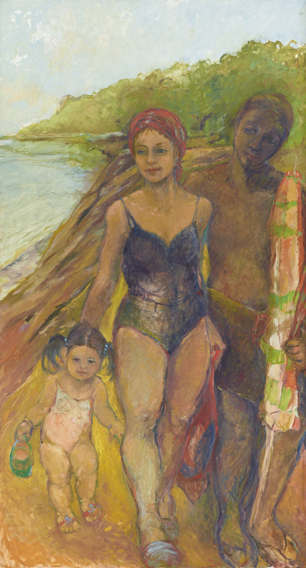 Family Outing  36X66 - Oil on Linen