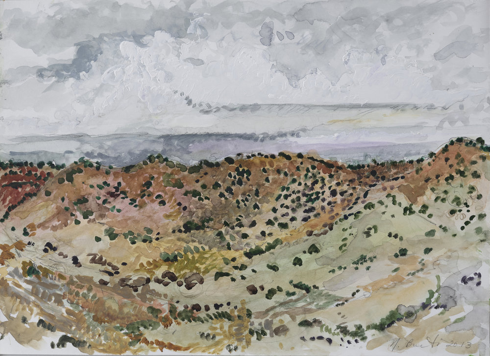 New Mexico near Santa Fe  10x14-gouche on paper