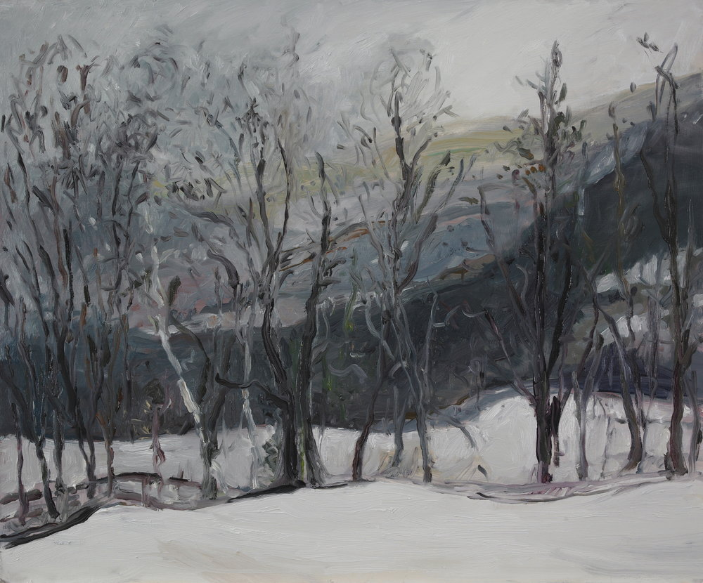 Before Snow  20X22 - Oil on Board