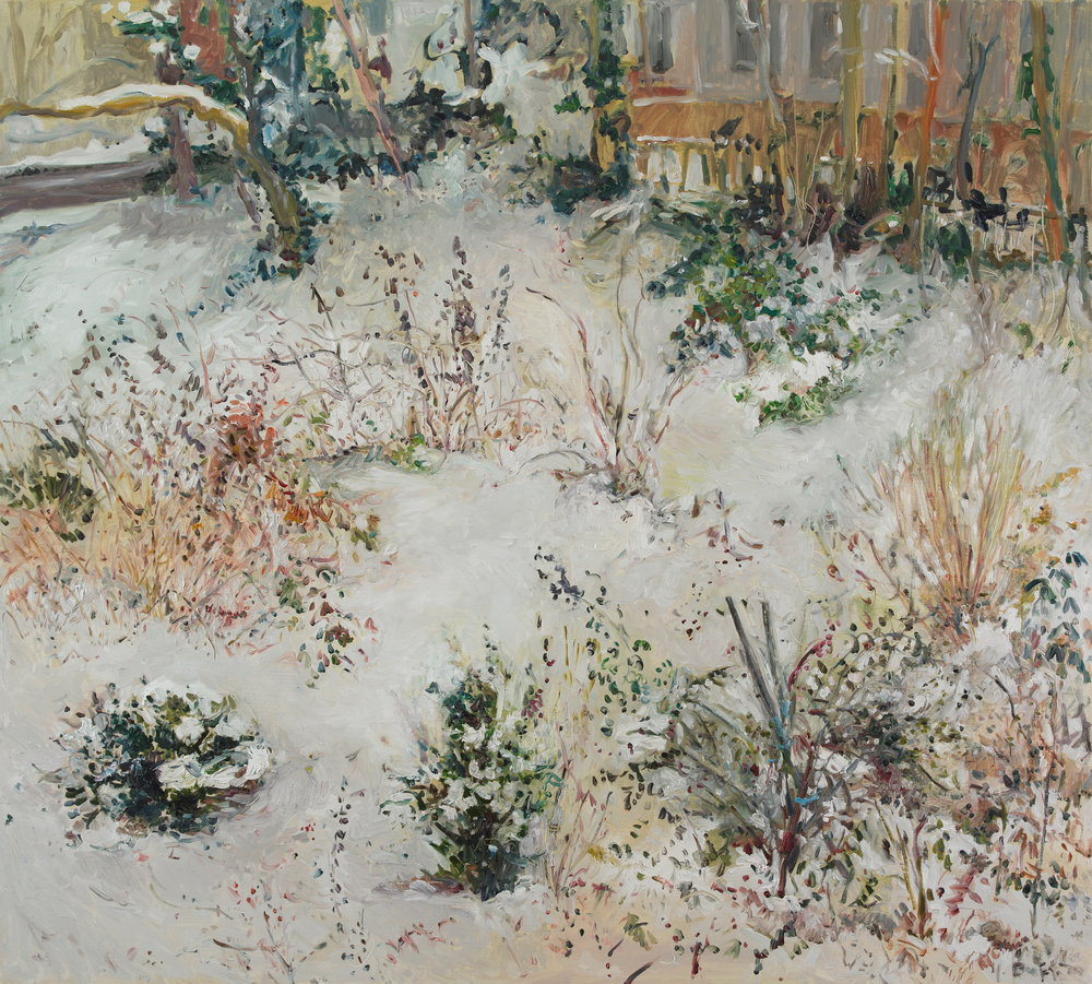 There is Color in Winter  38X42 - Oil on Linen