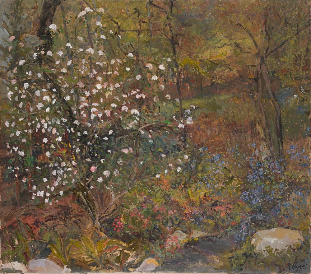 Caroline's Garden  38X42 - Oil on Canvas