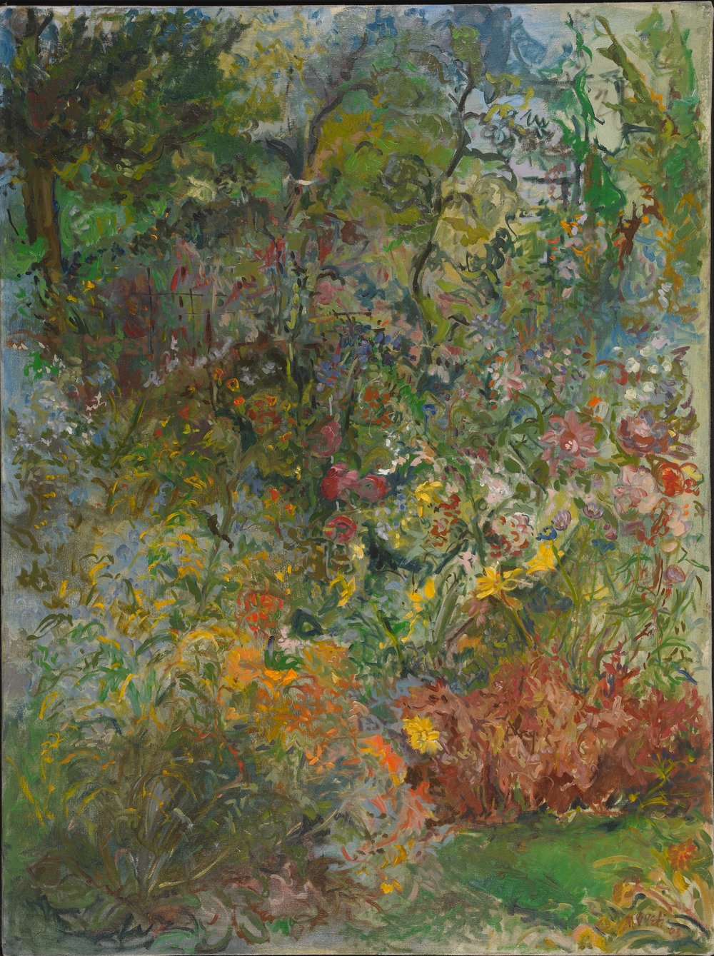 Garden near Woods  36X60 - Oil on Canvas