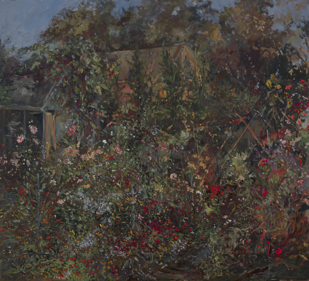 Gerry's Garden 2nd  38X42 - Oil on Canvas