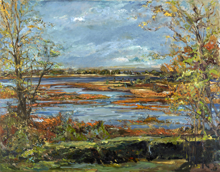 Overlook Stony Brook Channel  46x50-oil on canvas