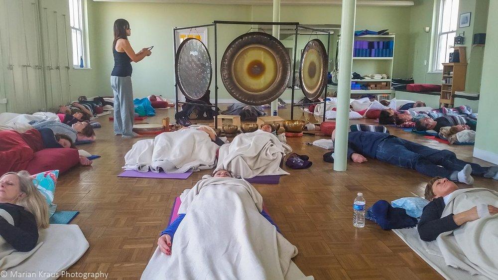 Gong meditation at Yoga AMong Friends