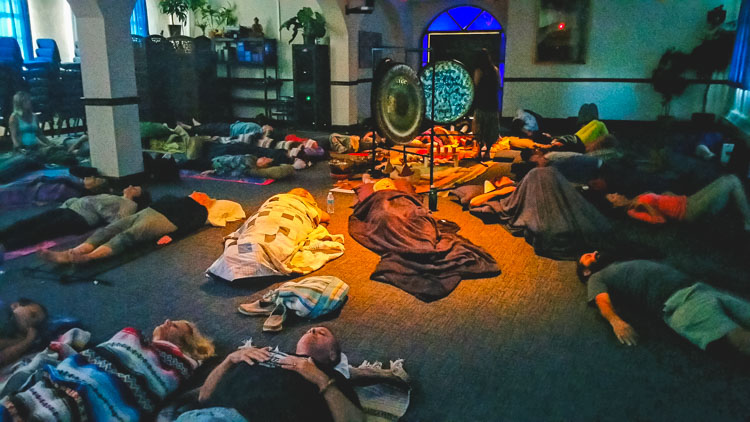 Delamora Gong Meditation at the Theosophical Society