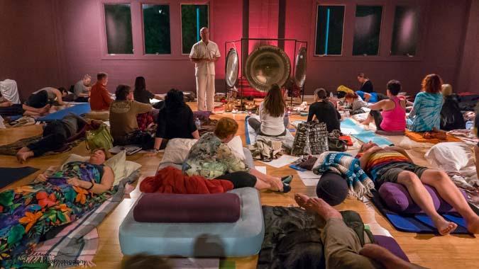 Delamora Overnight Awakenings Event with gongs