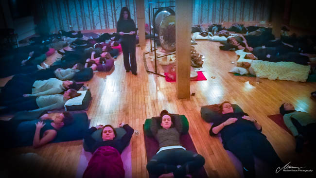 Guided meditation at Yogaview Chicago
