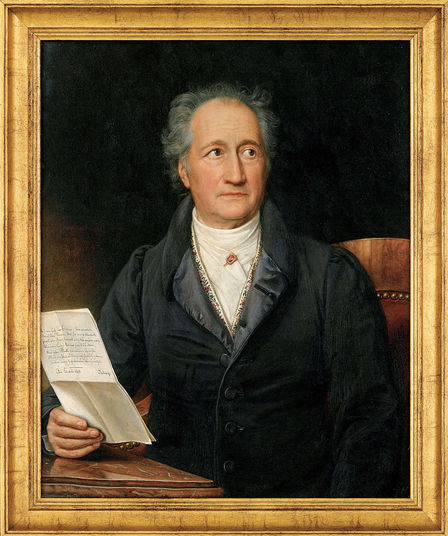 A 'shaman' and early quantum physicist in his own way, the German writer and politician Johann Wolfgang von Goethe -