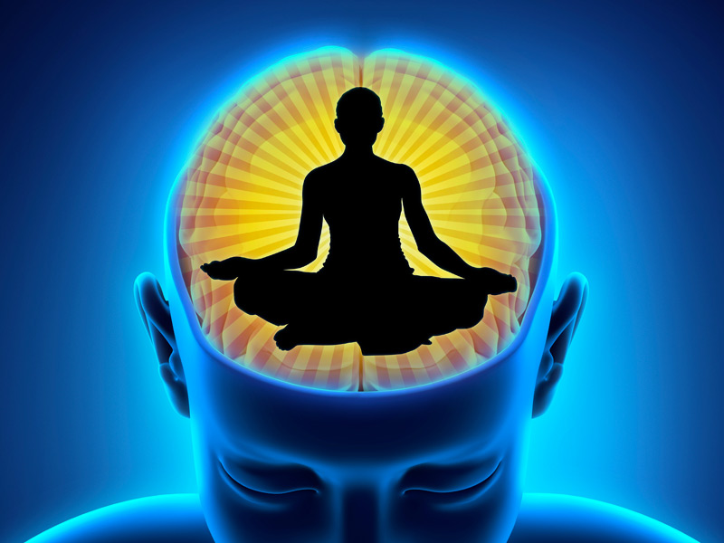 During profound peaceful states of the mind, which are typically achieved during meditative phases, the body's natural healing process is profoundly supported. -