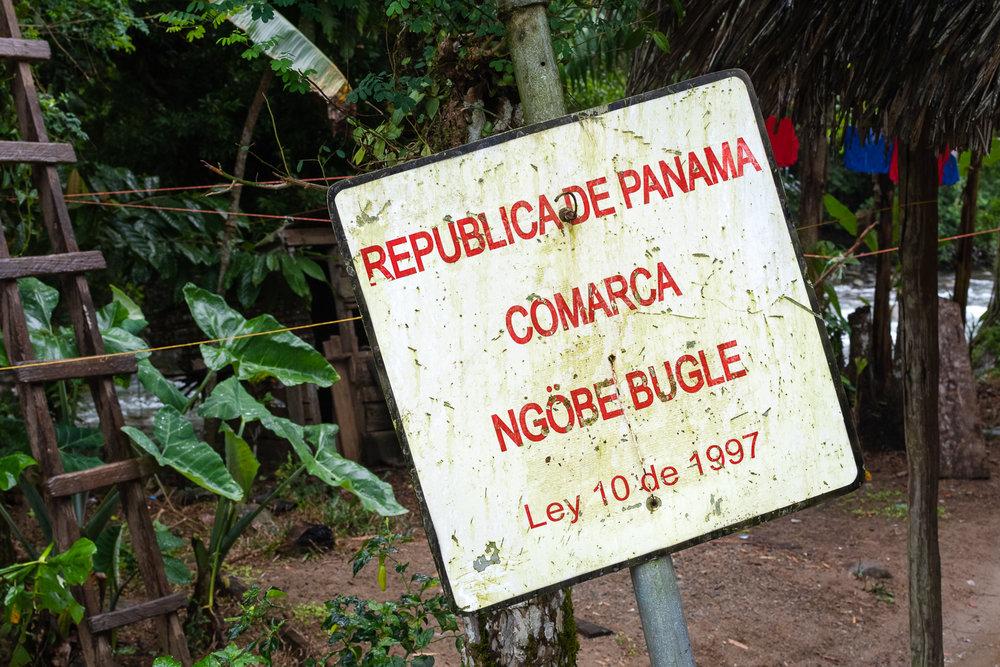 La delimitación de la comarca Ngäbe-Buglè en Norteño, Bocas del Toro.