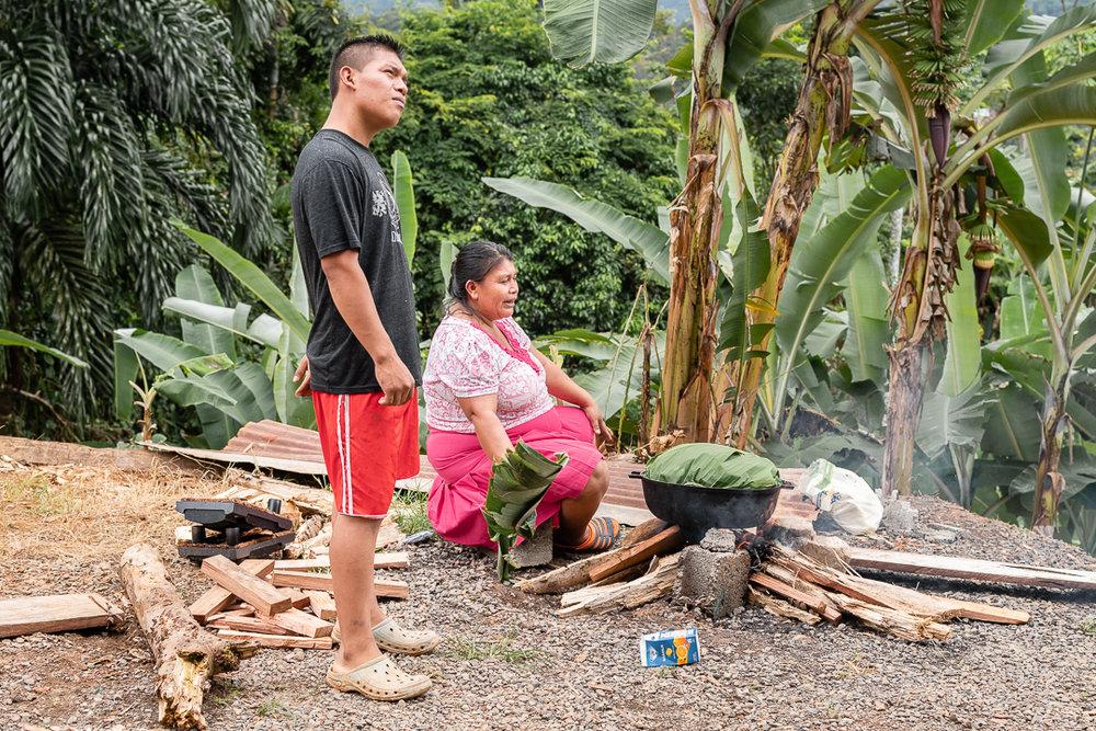 La familia Palacio, Valle del Rey, Bocas del Toro.