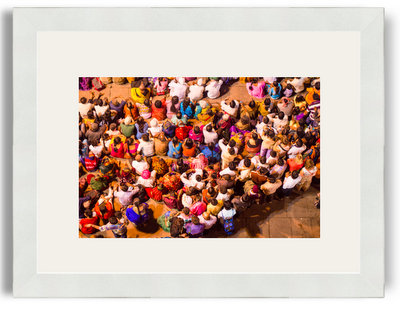 Enis Eryilmaz Colorful and Crowded India 8x12 White Frame White Mat.jpg