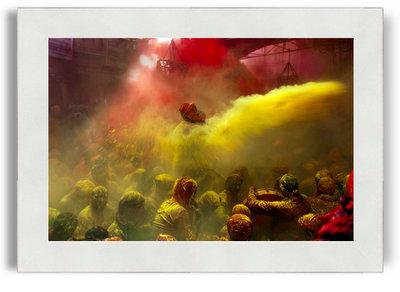 Suman Das Colors in India 8x12 White Frame No Mat.jpg
