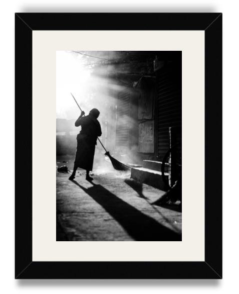 Akhil Susarla Street Sweeper Black Frame White Mat.png