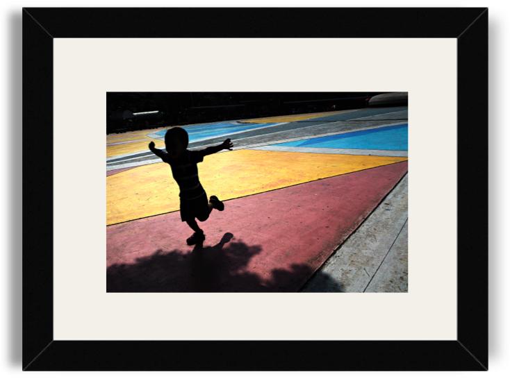 Jasper Tejano Boy in Flight Black Frame White Mat.png