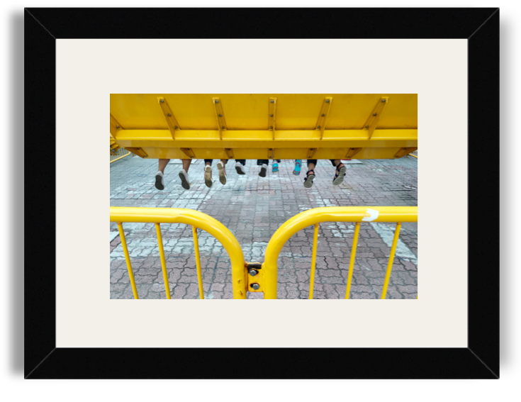 Jasper Tejano Kids in Flight Black Frame White Mat.png