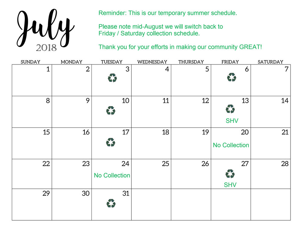 July2018TahlequahRecyclingCollectionSchedule